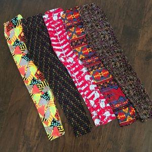 LuLaRoe Leggings - 5 pairs, one size